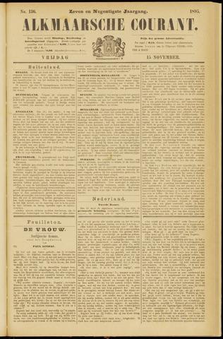 Alkmaarsche Courant 1895-11-15