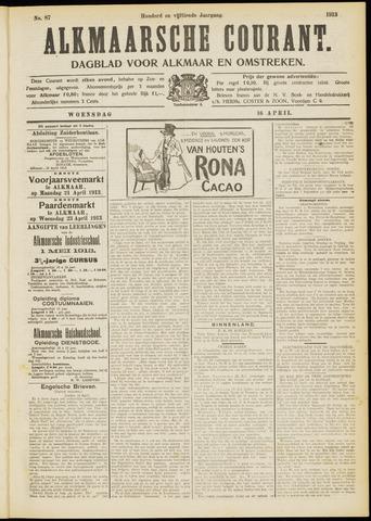 Alkmaarsche Courant 1913-04-16
