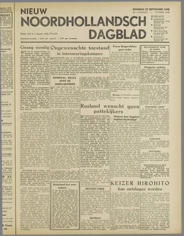 Nieuw Noordhollandsch Dagblad : voor Alkmaar en omgeving 1945-09-25