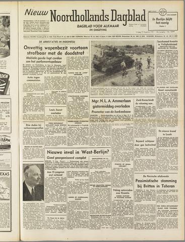 Nieuw Noordhollandsch Dagblad : voor Alkmaar en omgeving 1951-08-17