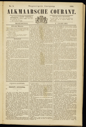 Alkmaarsche Courant 1888-01-04