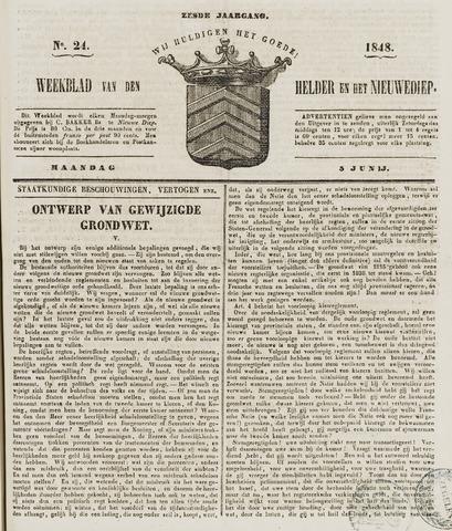 Weekblad van Den Helder en het Nieuwediep 1848-06-05