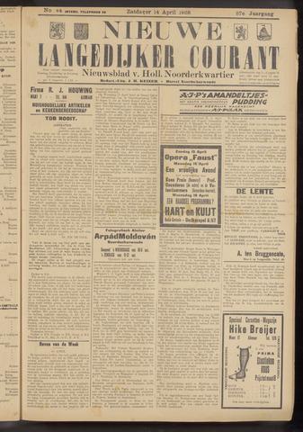 Nieuwe Langedijker Courant 1928-04-14