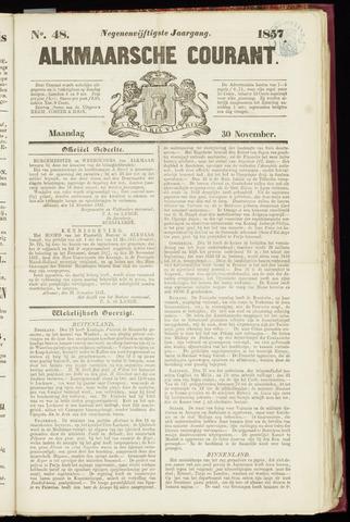 Alkmaarsche Courant 1857-11-30