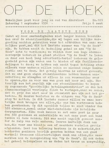 Op De Hoek, weekblad voor Akersloot 1956-09-01