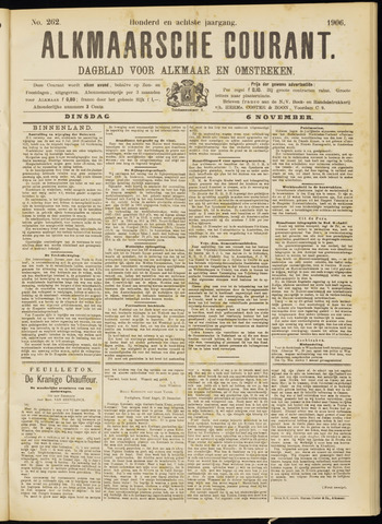 Alkmaarsche Courant 1906-11-06