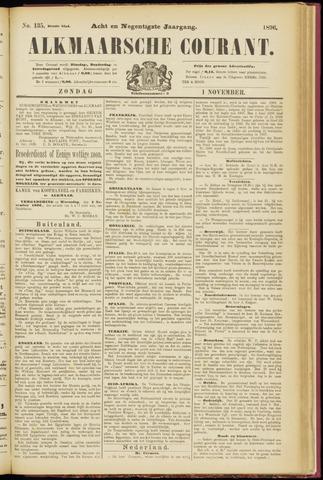 Alkmaarsche Courant 1896-11-01
