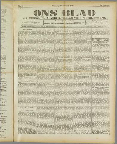 Ons Blad : katholiek nieuwsblad voor N-H 1920-02-23