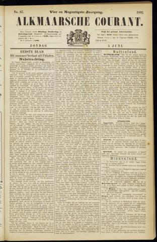 Alkmaarsche Courant 1892-06-05