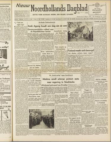 Nieuw Noordhollandsch Dagblad : voor Alkmaar en omgeving 1949-03-03