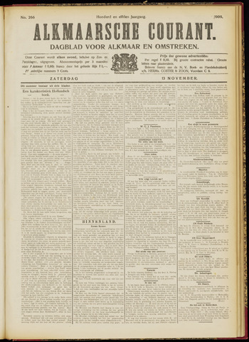Alkmaarsche Courant 1909-11-13