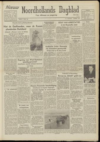 Nieuw Noordhollandsch Dagblad : voor Alkmaar en omgeving 1948-04-09