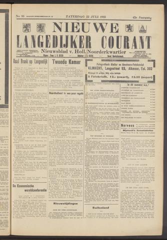 Nieuwe Langedijker Courant 1933-07-22