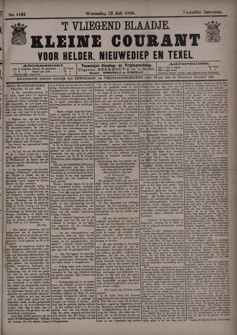 Vliegend blaadje : nieuws- en advertentiebode voor Den Helder 1884-07-23