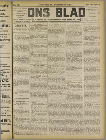 Ons Blad : katholiek nieuwsblad voor N-H 1917-09-20