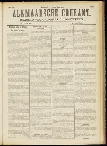 Alkmaarsche Courant 1909-03-27