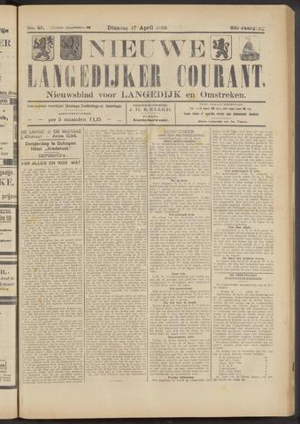 Nieuwe Langedijker Courant 1923-04-17