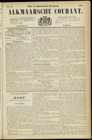 Alkmaarsche Courant 1892-05-13
