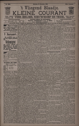 Vliegend blaadje : nieuws- en advertentiebode voor Den Helder 1894-12-22