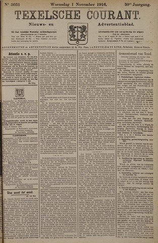 Texelsche Courant 1916-11-02