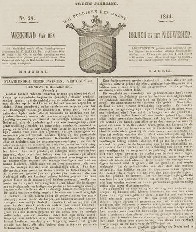 Weekblad van Den Helder en het Nieuwediep 1844-07-08