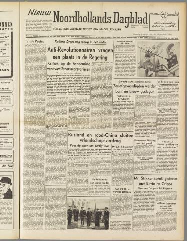 Nieuw Noordhollandsch Dagblad : voor Alkmaar en omgeving 1950-02-15