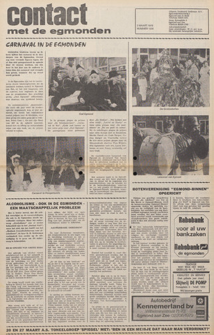 Contact met de Egmonden 1976-03-03