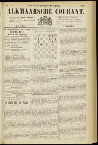 Alkmaarsche Courant 1892-10-02