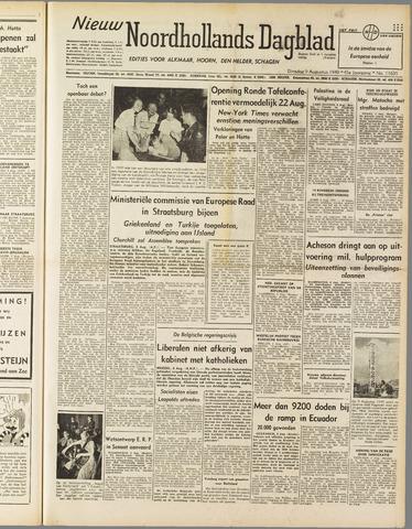 Nieuw Noordhollandsch Dagblad : voor Alkmaar en omgeving 1949-08-09