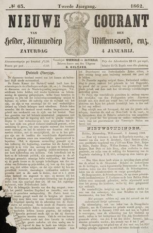Nieuwe Courant van Den Helder 1862-01-04