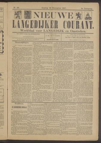 Nieuwe Langedijker Courant 1897-11-28