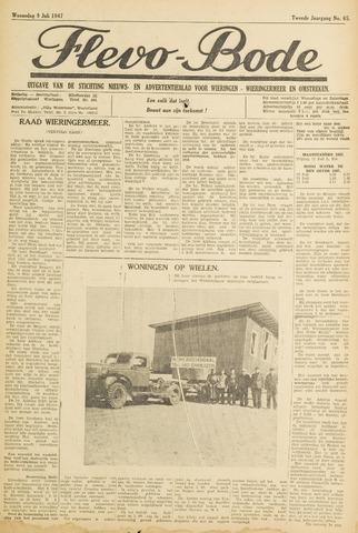 Flevo-bode: nieuwsblad voor Wieringen-Wieringermeer 1947-07-09