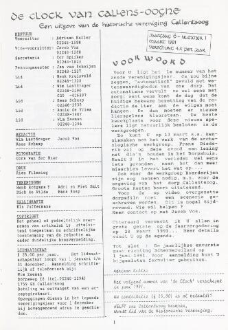 De Clock van Callens-Ooghe 1991