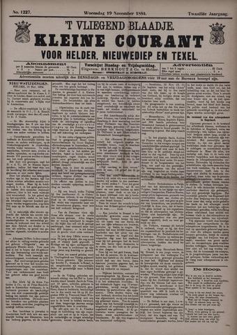 Vliegend blaadje : nieuws- en advertentiebode voor Den Helder 1884-11-19
