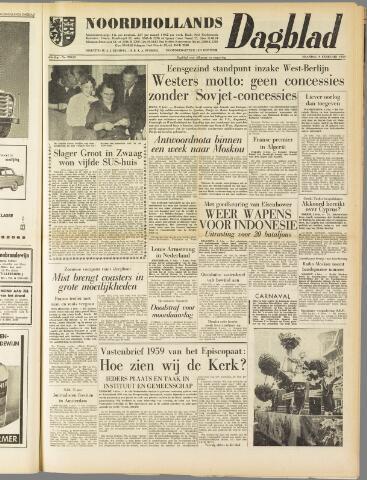 Noordhollands Dagblad : dagblad voor Alkmaar en omgeving 1959-02-09