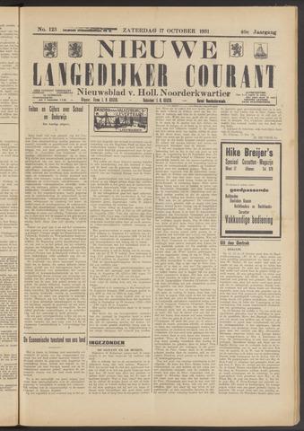 Nieuwe Langedijker Courant 1931-10-17