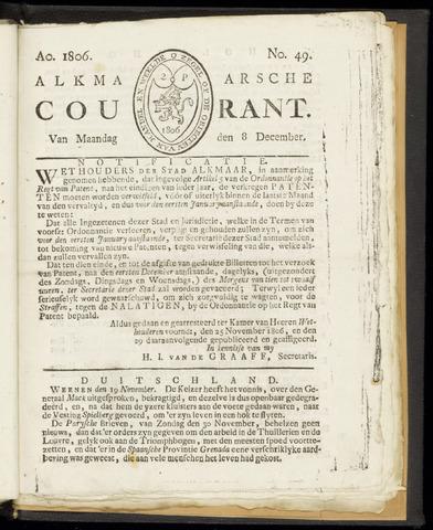 Alkmaarsche Courant 1806-12-08