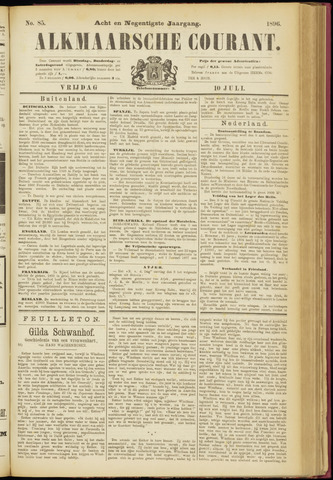 Alkmaarsche Courant 1896-07-10