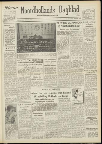 Nieuw Noordhollandsch Dagblad : voor Alkmaar en omgeving 1948-09-23