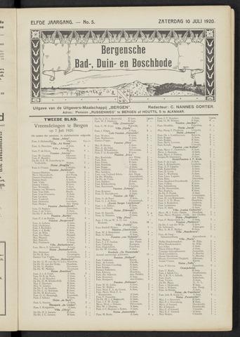Bergensche bad-, duin- en boschbode 1920-07-10