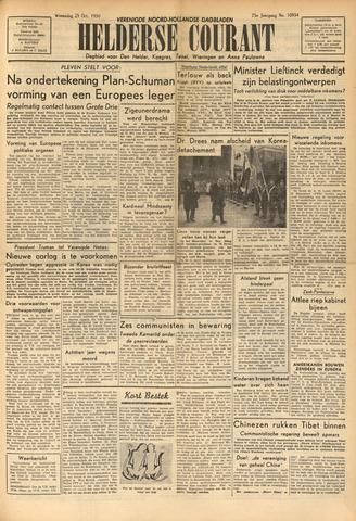 Heldersche Courant 1950-10-25