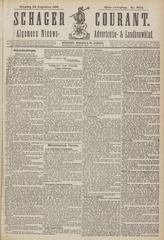 Schager Courant 1920-08-24