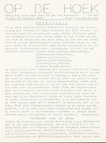 Op De Hoek, weekblad voor Akersloot 1961-08-18