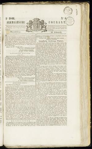 Alkmaarsche Courant 1841-02-22