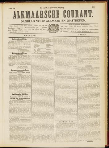 Alkmaarsche Courant 1911-04-03