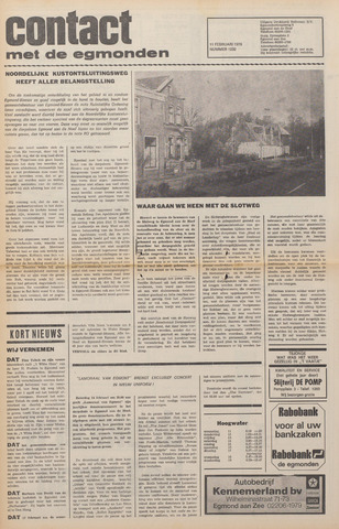 Contact met de Egmonden 1976-02-11
