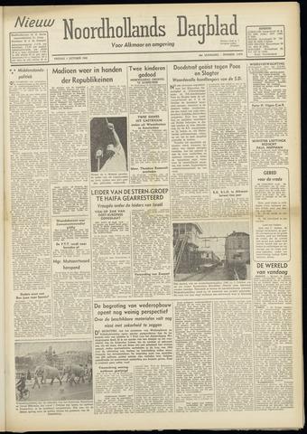 Nieuw Noordhollandsch Dagblad : voor Alkmaar en omgeving 1948-10-01