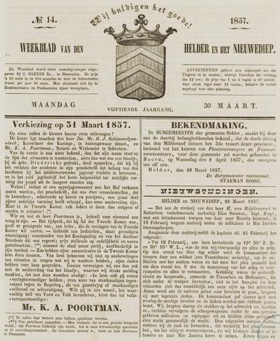 Weekblad van Den Helder en het Nieuwediep 1857-03-30