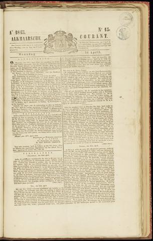 Alkmaarsche Courant 1845-04-14