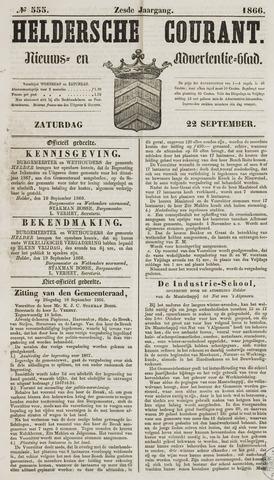 Heldersche Courant 1866-09-22